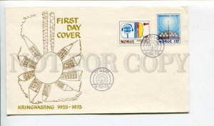 293181 NORWAY 1975 year First Day COVER Oslo Broadcast RADIO
