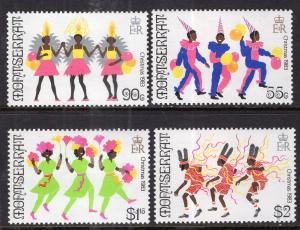 Montserrat 516-519 Christmas MNH VF