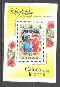 CAICOS ISL. Sc# 77 MNH VF SS Queen Mother Strawberry Cactus