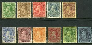 TURKS & CAICOS ISLANDS-1928  A fine used set to 10/- Sg 176-186