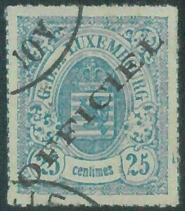 88208 - LUXEMBOURG - STAMPS -  Yvert TIMBRE SERVICE # 6 - Very Fine USED