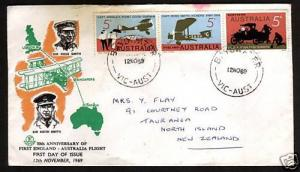 AUSTRALIA 1969 FDC FIRST FLIGHT