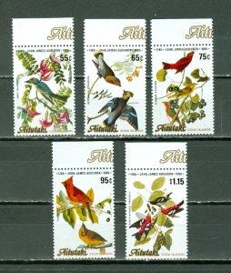 AITUTAKI 1985 BIRDS #368-72...SET MNH...$7.85