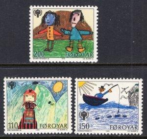 Faroe Islands 45-47 MNH VF