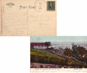 United States Massachusetts Woronoco 1908 4a-bar  1904-1995  PPC (Holyoke and...