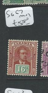 SARAWAK  (B0910) BROOKE 16C SG 57  VFU