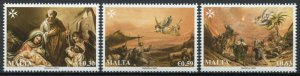Malta Christmas Stamps 2020 MNH Nativity Angels Shepherds Magi 3v Set