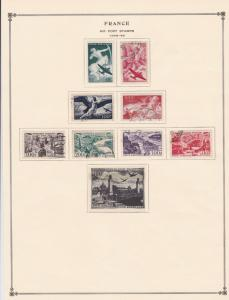 france air post stamps 1946-49 page mounted mint & used ref 17484