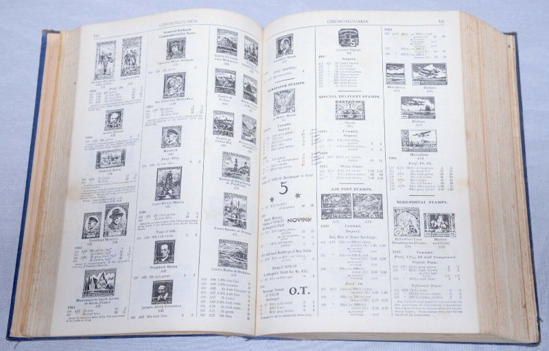 1938 WORLDWIDE SCOTT Standard Postage Stamp CATALOGUE Hardcover 1200+ Pages