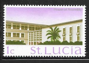 St Lucia 261: 1c House of Assembly, MH, F-VF