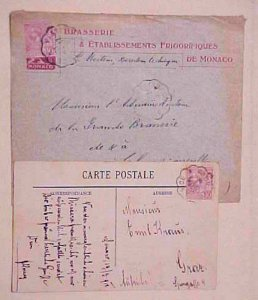 MONACO USED IN FRANCE #16 NIC A VINTIMILLE 1912 also 1917
