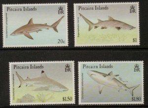 PITCAIRN ISLANDS SG414/7 1992 SHARKS MNH
