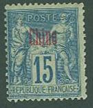 France Off in CHINA SC# 4 Peace & Commerce, 15c  MH