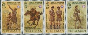 Isle Of Man 1976 SG75-78 American Independence set MNH