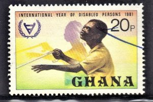 GHANA  SC# 777 **USED** 20p  1982  DISABLED PERSONS  SEE SCAN