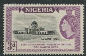 Nigeria -Scott 95 - General Issue -1958 - MVLH - Single 3p Stamp