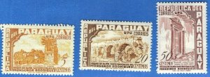 PARAGUAY SC# 491-92 **MH** 1955  5,20,50c   SEE SCAN
