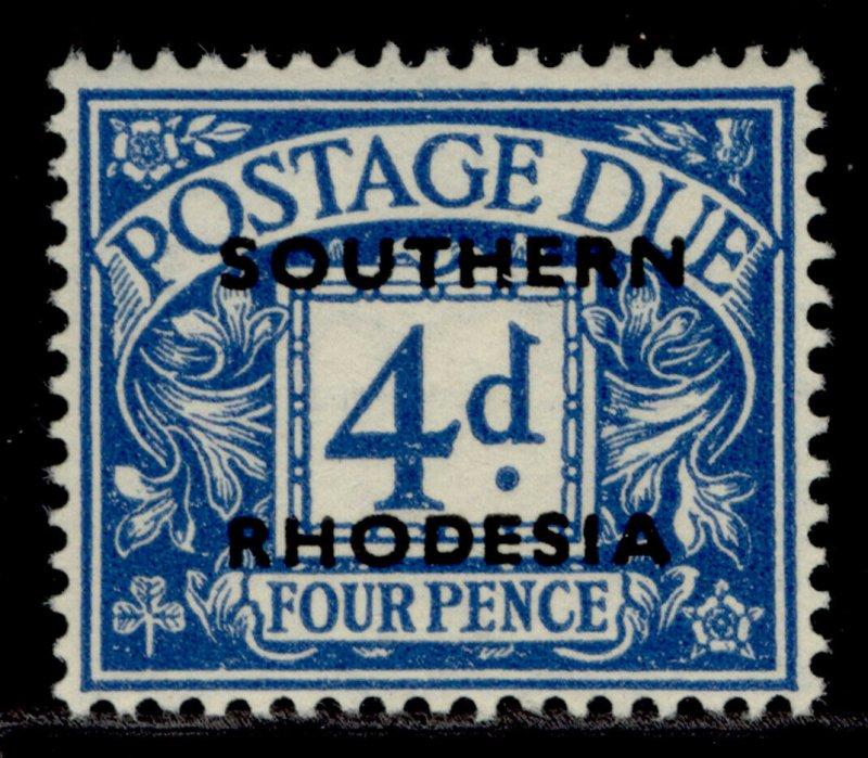 SOUTHERN RHODESIA GVI SG D5, 4d blue, LH MINT.