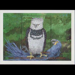 GUYANA 1990 - Scott# E29 S/S Harpy Eagle NH