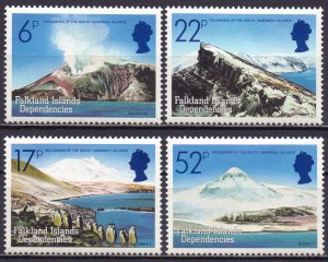 Falkland Islands. 1984. 125-28. Volcano Mountain Penguins. MVLH.
