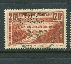 France #254a J&C Perfin Used