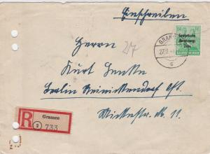 Germany Soviet Zone 1948 Gransee to Berlin  stamps cover  R20747