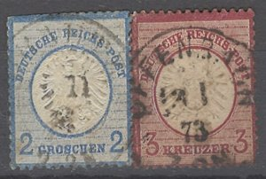 COLLECTION LOT # 2053 GERMANY  #18+23 1872