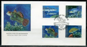 MICRONESIA  AUG 1993 FISH FIRST DAY COVER