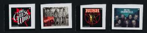 Canada 2656-9 MNH Recording artists, Rush, Guess Who, Tragically Hip