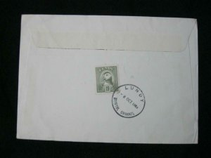 LUNDY STAMP USED ON 1985 COVER