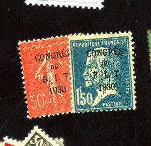 France #256-7 MINT FVF OG LH Cat$23
