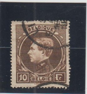 Belgium  Scott#  212  Used  (1929 King Albert)