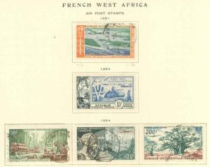 French West Africa C16-C20 Used VF