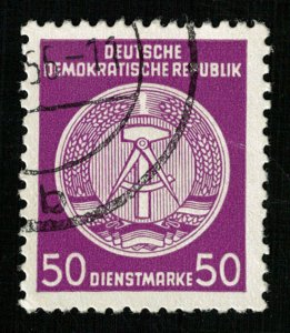 DDR, 50 Diensrmarke, Germany, 1957-1960, Coat of Arms, Rare (3887-Т)