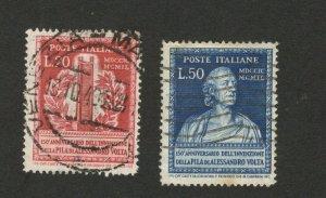 ITALY - USED  SET - ALESSANDRO VOLTA - 1949.