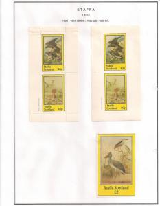 SCOTLAND - STAFFA - 1982 - Birds #14 - Perf, Imp 2v, D/L Sheets - MLH