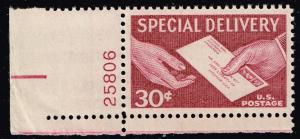 US STAMP # E21 30c Special Delivery 19​54 PL # MNH/OG SUPERB