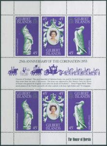 Gilbert Islands 1978 SG68a Coronation sheet MLH