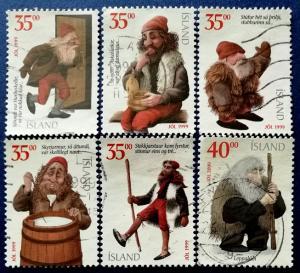 Iceland Christmas Scott # 896a, 896c, 896d, 896g, 896h & 924 Used (I704)
