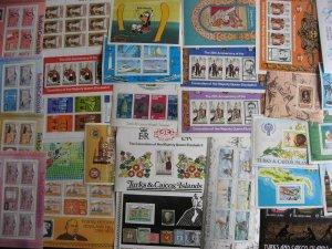 Turks & Caicos 22 different MNH souvenir sheets! Check them out!