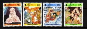 Jersey Sc 600-3 1992 Batik stamp set used