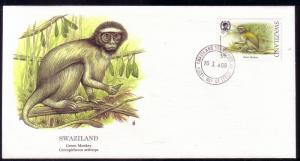 Swaziland FDC SC# 539 Green Monkey L344