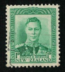 King George VI, 1D, Postage Revenue, 1938, New Zealand (T-6517)
