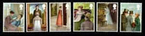 GB SG3431/6 2013 JANE AUSTEN MNH