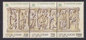 Vatican City   #931  MNH  1993  sarcophagus  strip of three