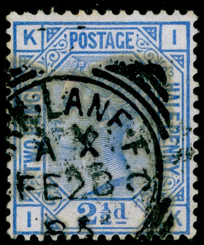 SG157, 2½d blue PLATE 23, USED. Cat £35. IK