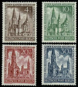 GERMANY BERLIN 1953 WILHELM CHURCH RECON MINT (NH) SGB106-09 Wmk.230 P.14 SUPERB