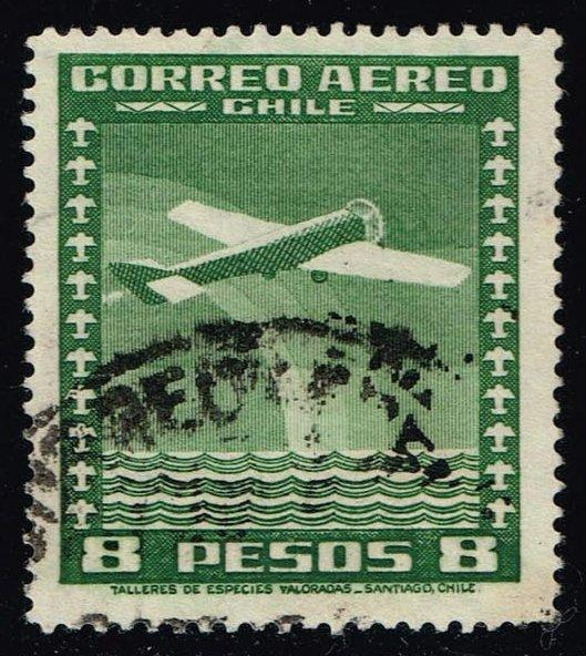 Chile #C45 Airplane; Used (0.25)