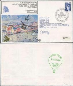 FF25b 1st Regular Carriage of Mail and Passengers by Balloon Pilot Signed (A)
