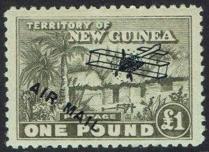 NEW GUINEA 1931 HUT AIRMAIL 1 POUND MNH **